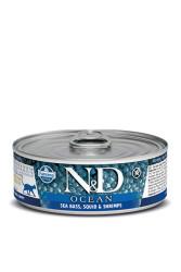 Farmina N&D - ND Tahılsız Ocean Levrek Mürekkep Balığı Ve Karidesli Kedi Konserve 80 GR