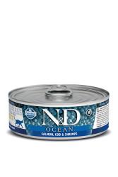 Farmina N&D - ND Tahılsız Ocean Somon Morina Balığı Ve Karidesli Kedi Konservesi 80 GR