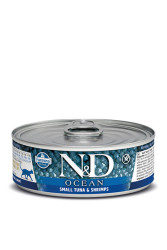 Farmina N&D - ND Tahılsız Ocean Ton Morina Balığı Ve Karidesli Kedi Konservesi 80 GR