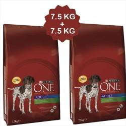 Nestle Purina One - Nestle Purina One Kuzu Etli Köpek Maması 7,5 KG + 7,5 KG