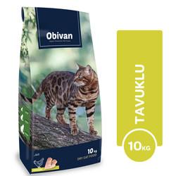 Obivan - Obivan Adult Cat Tavuklu Kedi Maması 10 KG