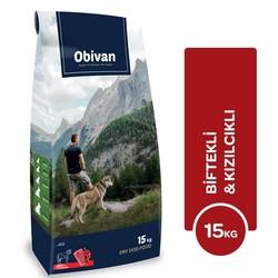 Obivan - Obivan Biftekli & Kızılcıklı Köpek Maması 15 KG