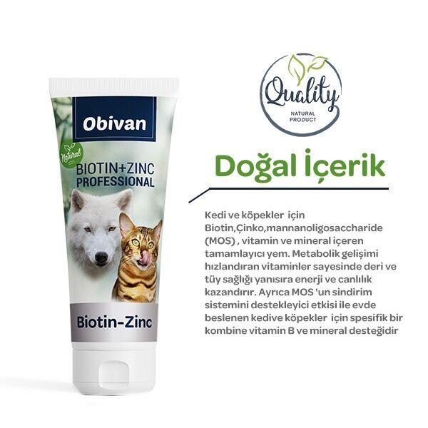 Obivan Biotin ve Çinko Katkılı Kedi Köpek Maltı 100 GR