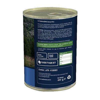 Obivan Düşük Tahıllı Somonlu Pirinçli Ezme Köpek Konservesi 400 Gr x 12 Adet