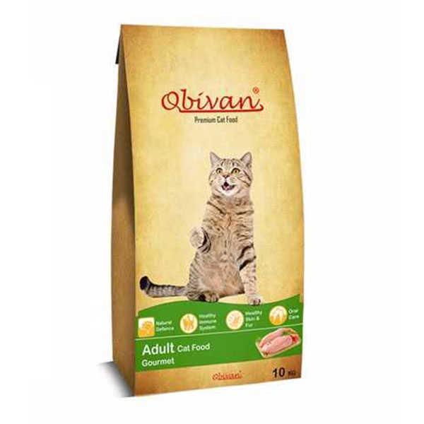 Obivan Gourmet Kedi Maması 10 KG