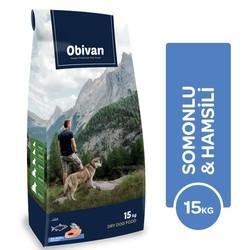 Obivan - Obivan Hypoallergenic Somonlu & Hamsili Köpek Maması 15 KG