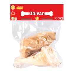 Obivan - Obivan Kurutulmuş Beyaz Dana Kulak Köpek Ödülü 100 GR