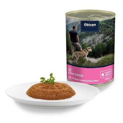 Obivan Düşük Tahıllı Kuzu Etli Pirinçli Yavru Ezme Köpek Konservesi 400 Gr