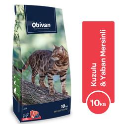 Obivan - Obivan Kuzu Etli ve Yaban Mersinli Kedi Maması 10 KG