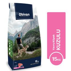 Obivan - Obivan Kuzu Etli ve Yaban Mersinli Yavru Köpek Maması 15 KG