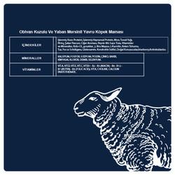 Obivan Kuzu Etli ve Yaban Mersinli Yavru Köpek Maması 15 KG - Thumbnail