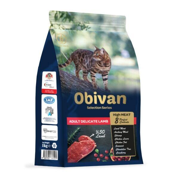 Obivan Selection Delicate Kuzu Etli Kedi Maması 1 KG