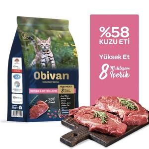 Obivan Low Grain Kuzu Etli Yavru Kedi Maması 1 KG x 20 Adet - Thumbnail