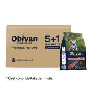 Obivan Selection Kuzu Etli Yavru Kedi Maması 1 KG x 6 Adet - Thumbnail