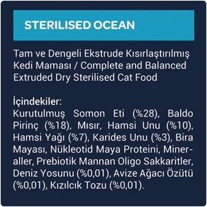 Obivan Low Grain Ocean Kısırlaştırılmış Kedi Maması 1 KG x 20 Adet - Thumbnail