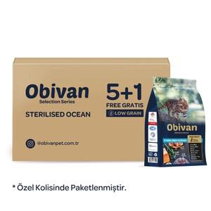 Obivan Low Grain Ocean Kısırlaştırılmış Kedi Maması 1 KG x 6 Adet - Thumbnail