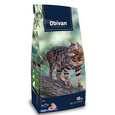 Obivan Somonlu ve Hamsili Kedi Maması 10 KG