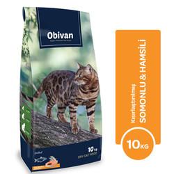 Obivan - Obivan Somonlu ve Hamsili Kısırlaştırılmış Kedi Maması 10 KG