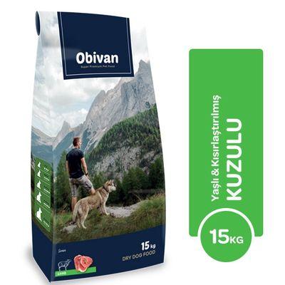 Obivan Yaşlı & Kuzulu Köpek Maması 15 KG