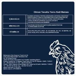 Obivan Tavuklu & Kızılcıklı Yavru Kedi Maması 10 KG - Thumbnail