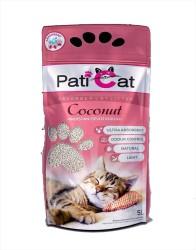 Pati Cat - Pati Cat Coconut Hindistan Ceviz Kokulu İnce Taneli Kedi Kumu 10 LT