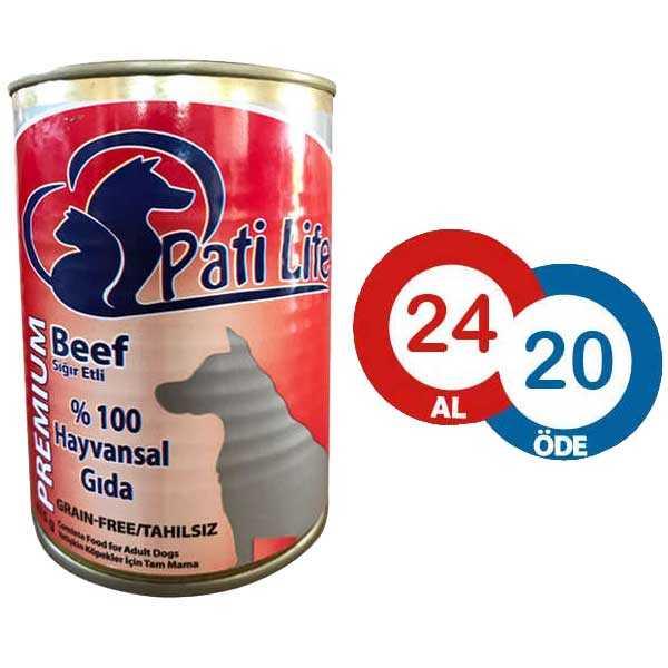 Pati Life Biftekli Köpek Konservesi 415 GR * 24 ADET