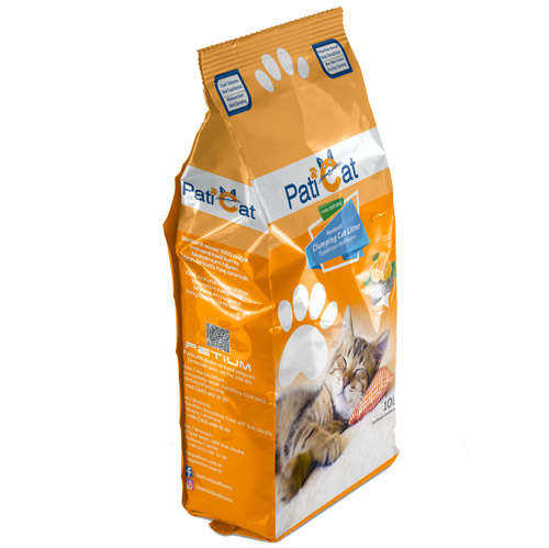PatiCat Portakal Kokulu Doğal İnce Taneli Kedi Kumu 10 LT