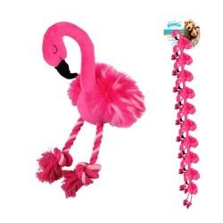Pawise - Pawise Peluş Flamingo Köpek Oyuncağı L Boy