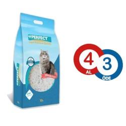 - Perfect Marsilya Sabunlu Topaklanan Kedi Kumu 10 LT ( 4 AL 3 ÖDE )