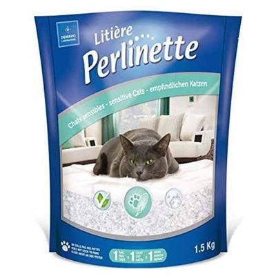 Perlinette Yetişkin ve Hassas Kediler İçin Kristal Kum 1,5 KG