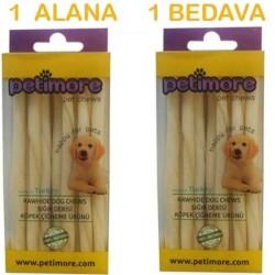Petimor - Petimore Sütlü Burgu Çubuk Ödül Ve Çiğneti Kemiği 20 Adet (1 Alana 1 Bedava )