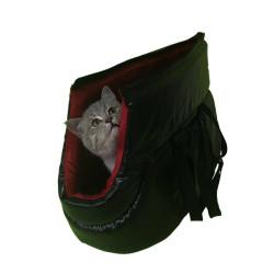 Pet Style - PetStyle Deri Kedi Taşıma Çantası - Kırmızı