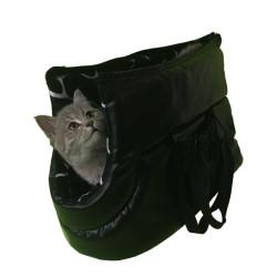 Pet Style - PetStyle Deri Kedi Taşıma Çantası - Siyah