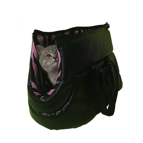 PetStyle Deri Kedi Taşıma Çantası - Pembe