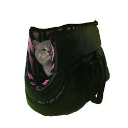 Pet Style - PetStyle Deri Kedi Taşıma Çantası - Pembe