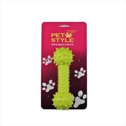 Pet Style - Petsyle Yumuşak Dambıl Köpek Kemiği Yeşil
