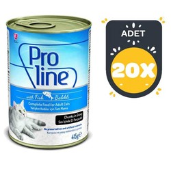 Pro Line - Pro Line Balıklı Kedi Konservesi 415 GR x 20 Adet