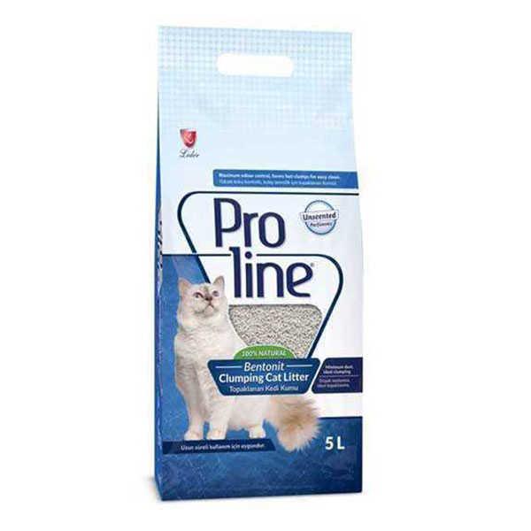 Pro Line Bentotit Topaklaşan Kokusuz Kedi Kumu 5 LT