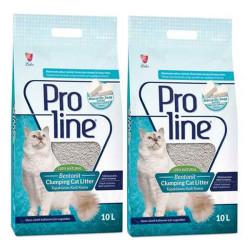 Pro Line - ProLine Topaklaşan Marsilya Sabun Kokulu Kedi Kumu 10 LT*2 Adet