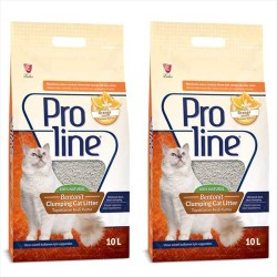 Pro Line - ProLine Topaklaşan Portakal Kokulu Kedi Kumu 10 LT * 2 Adet
