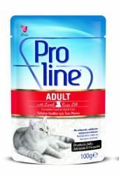 Pro Line - Pro Line Kuzu Etli Yaş Kedi Maması 100 Gr
