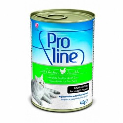 Pro Line - Pro Line Tavuklu Kedi Konservesi 415 GR