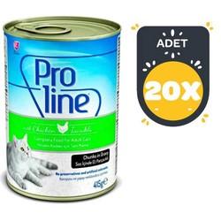 Pro Line - Pro Line Tavuklu Kedi Konservesi 415 GR x 20 Adet