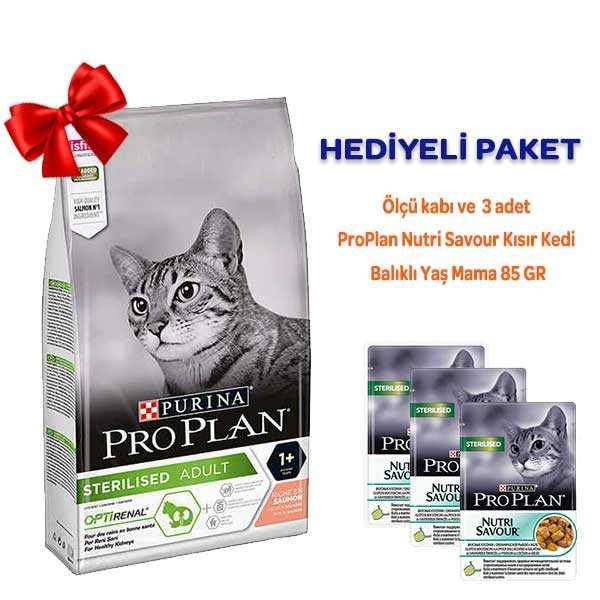 Pro Plan Sterilised Somonlu Kısırlaştırılmış Kedi Maması 1,5 Kg Hediyeli Paket