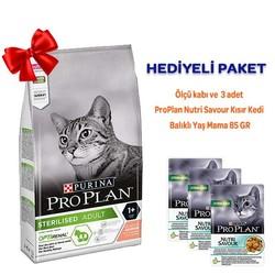 ProPlan - Pro Plan Sterilised Somonlu Kısırlaştırılmış Kedi Maması 1,5 Kg Hediyeli Paket