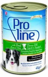 Pro Line - Proline Biftek ve Ciğerli Köpek Konservesi 405 GR
