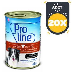 Pro Line - Proline Biftekli Köpek Konservesi 415 GR x 20 Adet