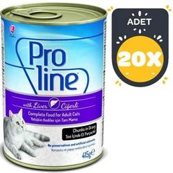 Pro Line - Proline Ciğerli Kedi Konservesi 415 GR x20 Adet