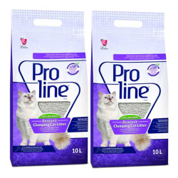 Pro Line - Proline Lavanta Kokulu İnce Taneli Kedi Kumu 10 LT * 2 Adet