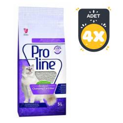 Pro Line - Proline Lavanta Kokulu İnce Taneli Kedi Kumu 5 LT * 4 Adet